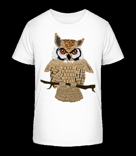 Owl - Kid's Premium Bio T-Shirt - White - Vorn