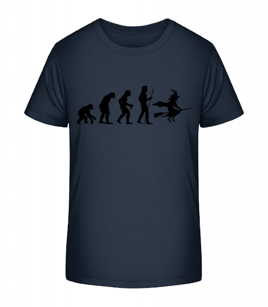 Halloween Evolution - Kid's Premium Bio T-Shirt - Navy - Vorn
