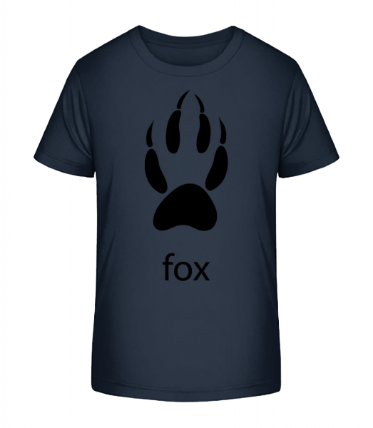 Fox Paw - Kid's Premium Bio T-Shirt - Navy - Vorn