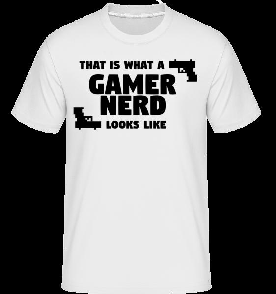 A Gamer Nerd Looks Like -  Shirtinator Men's T-Shirt - White - Vorn