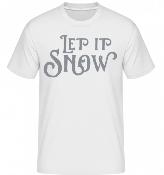 Let It Snow -  Shirtinator Men's T-Shirt - White - Vorn