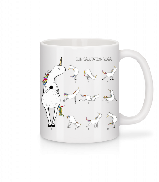 Sun Salutation Yoga - Mug - White - Vorn