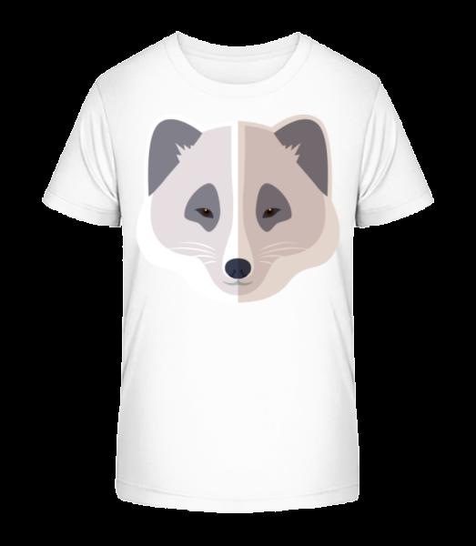 Racoon Comic Shadow - Kid's Premium Bio T-Shirt - White - Vorn