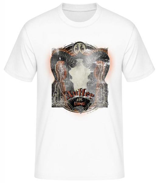Buffalo Skull Vintage - Men's Basic T-Shirt - White - Vorn