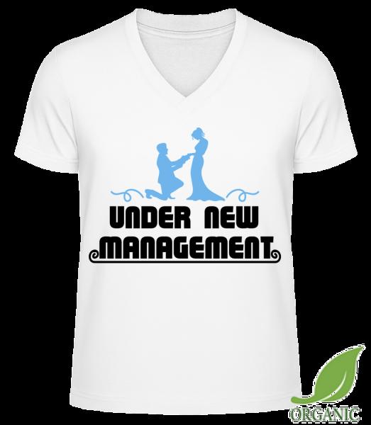 "Mariage Under New Management - ""James"" Organic V-Neck T-Shirt - White - Vorn"