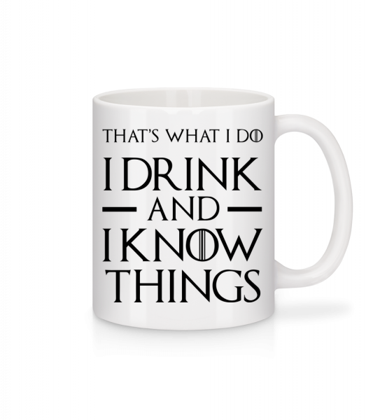 I Drink And I Know Things - Mug - White - Vorn