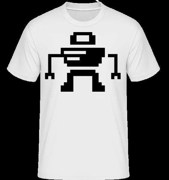 Pixel Robot - Shirtinator Men's T-Shirt - White - Vorn
