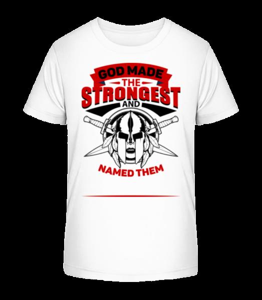 God Named The Strongest - Kid's Premium Bio T-Shirt - White - Vorn
