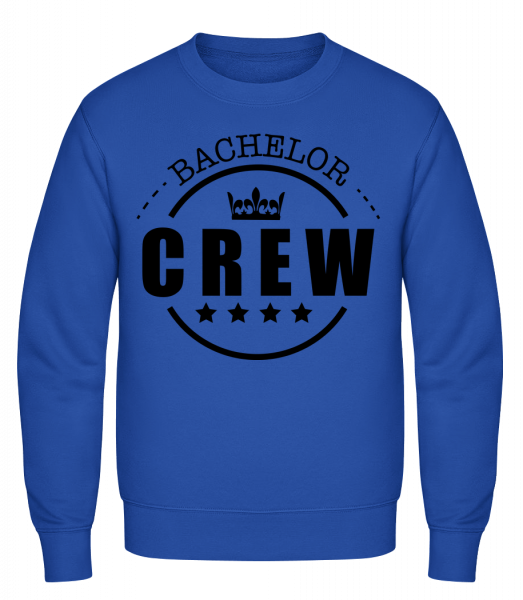 Bachelor Crew - Classic Set-In Sweatshirt - Royal Blue - Vorn
