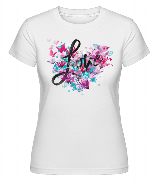 Love -  Shirtinator Women's T-Shirt - White - Vorn
