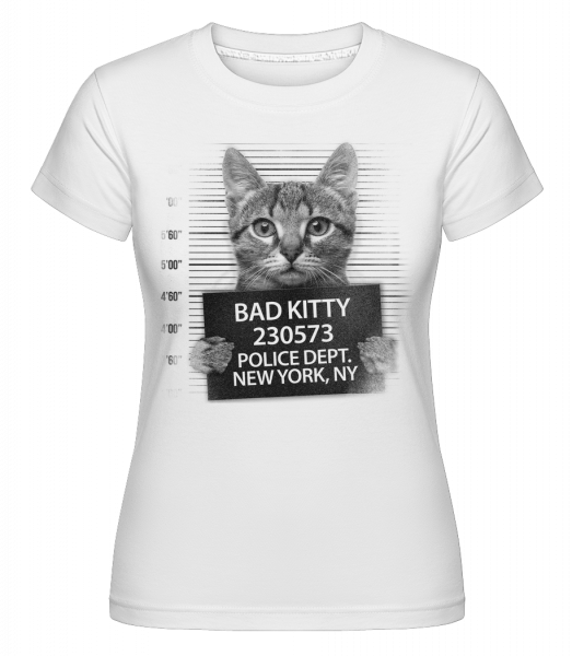Criminal Cat -  Shirtinator Women's T-Shirt - White - Vorn