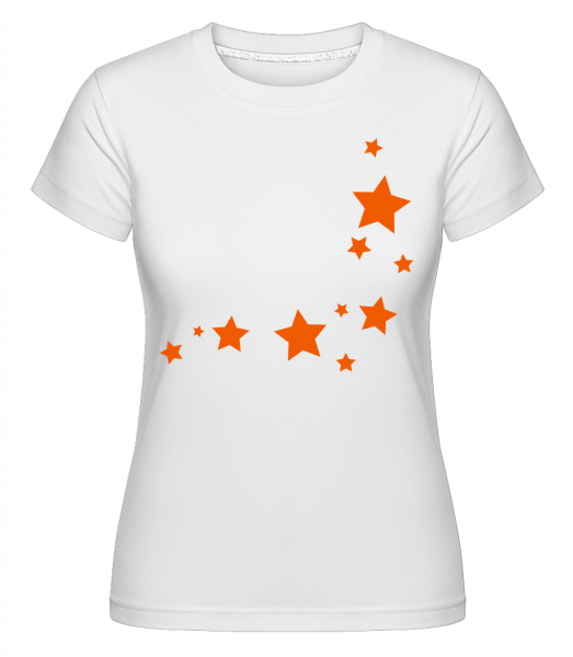 Stars - Shirtinator Women's T-Shirt - White - Vorn