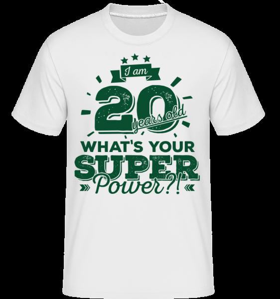 20 Years Super Power - Shirtinator Men's T-Shirt - White - Vorn