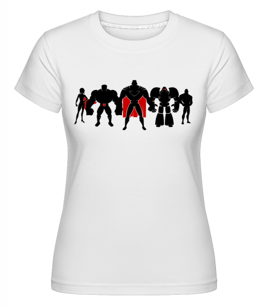 Superman League -  Shirtinator Women's T-Shirt - White - Vorn