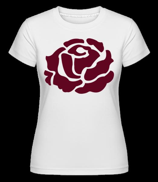 Red Rose - Shirtinator Women's T-Shirt - White - Vorn