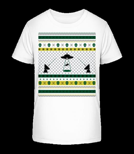 Alien Christmas - Kid's Premium Bio T-Shirt - White - Vorn