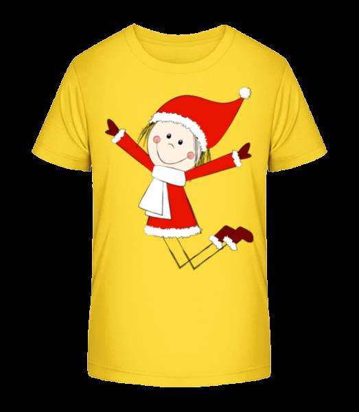 Christmas Girl - Kid's Premium Bio T-Shirt - Yellow - Vorn