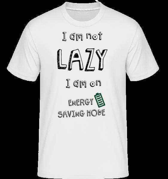 I Am Not Lazy -  Shirtinator Men's T-Shirt - White - Vorn