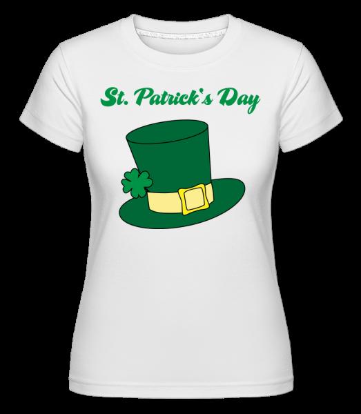 St. Patrick's Day Hat -  Shirtinator Women's T-Shirt - White - Vorn