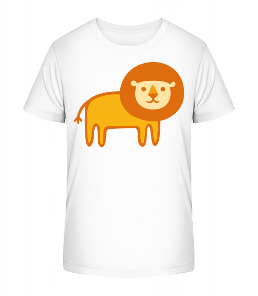 Kids Comic - Lion - Kid's Premium Bio T-Shirt - White - Vorn