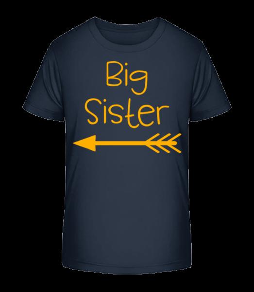Big Sister - Kid's Premium Bio T-Shirt - Navy - Vorn