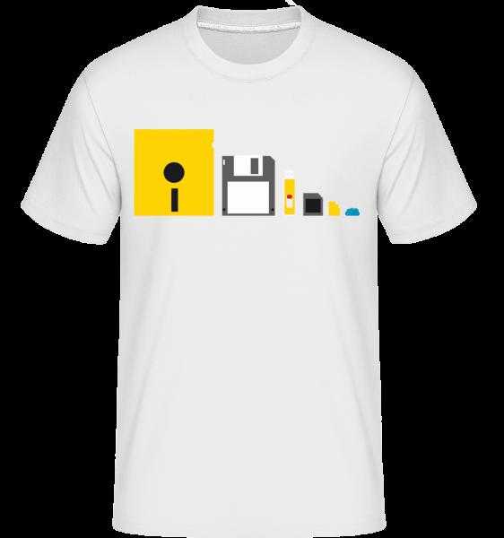 Evolution Of Technology -  Shirtinator Men's T-Shirt - White - Vorn