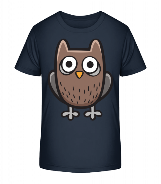 Cartoon Owl - Kid's Premium Bio T-Shirt - Navy - Vorn