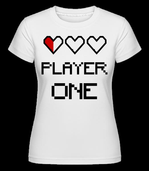 Player One - Shirtinator Women's T-Shirt - White - Vorn