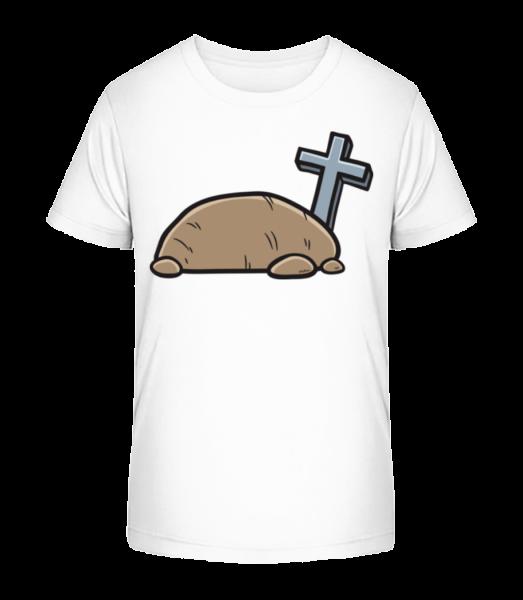 Cartoon Tomb - Kid's Premium Bio T-Shirt - White - Vorn