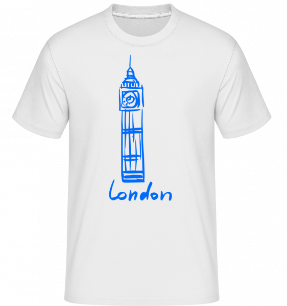 London Tower Sign - Shirtinator Men's T-Shirt - White - Vorn