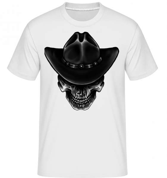 Cowboy Skull - Shirtinator Men's T-Shirt - White - Vorn