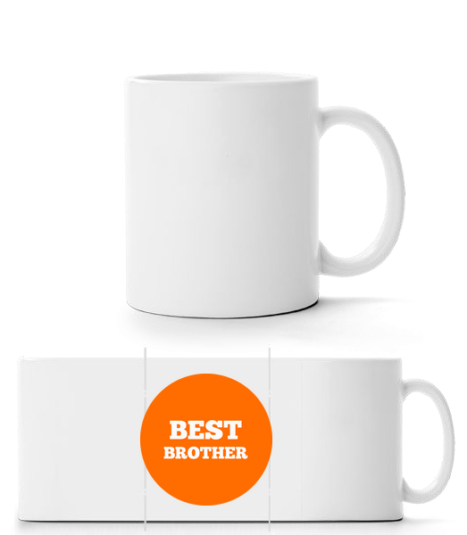 Best Brother - Panorama Mug - White - Vorn