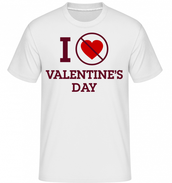 I Do Not Love Valentine's Day -  Shirtinator Men's T-Shirt - White - Vorn