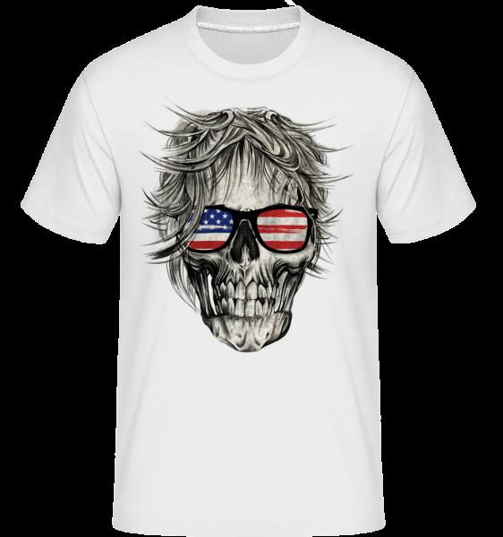 Crâne Amérique - Shirtinator Men's T-Shirt - White - Vorn