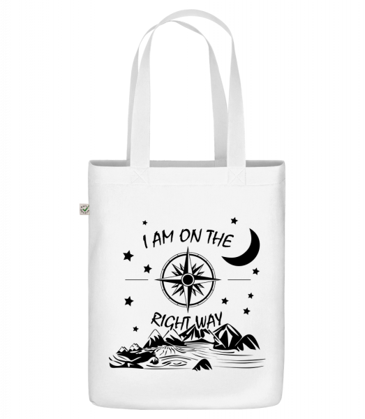 """I Am On The Right Way - Organic """"Earth Positive"""" tote bag - White - Vorn"""