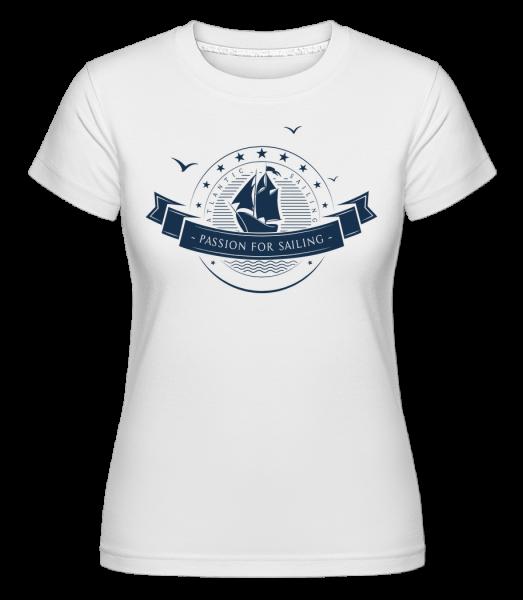 Passion For Sailing Logo - Shirtinator Women's T-Shirt - White - Vorn