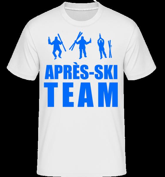 Après Ski Team -  Shirtinator Men's T-Shirt - White - Vorn