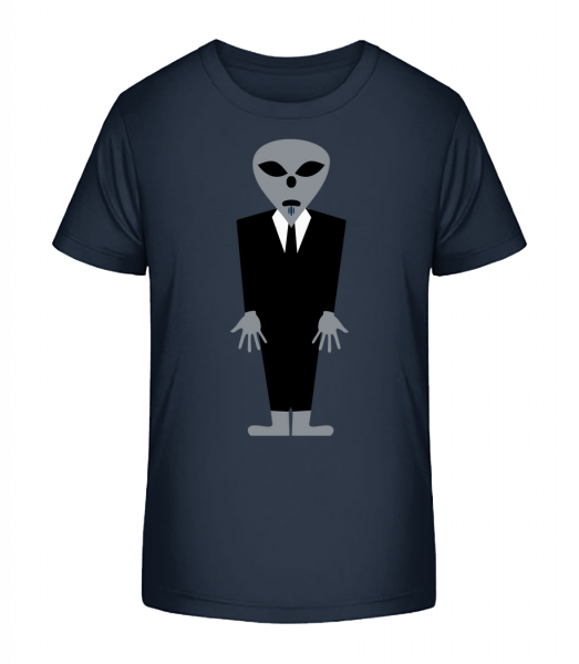 Alien With Suit - Kid's Premium Bio T-Shirt - Navy - Vorn