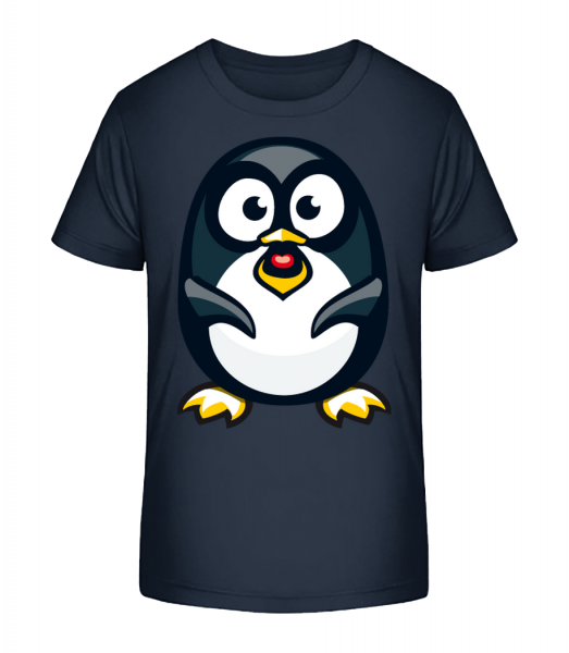 Love Penguin - Kid's Premium Bio T-Shirt - Navy - Vorn