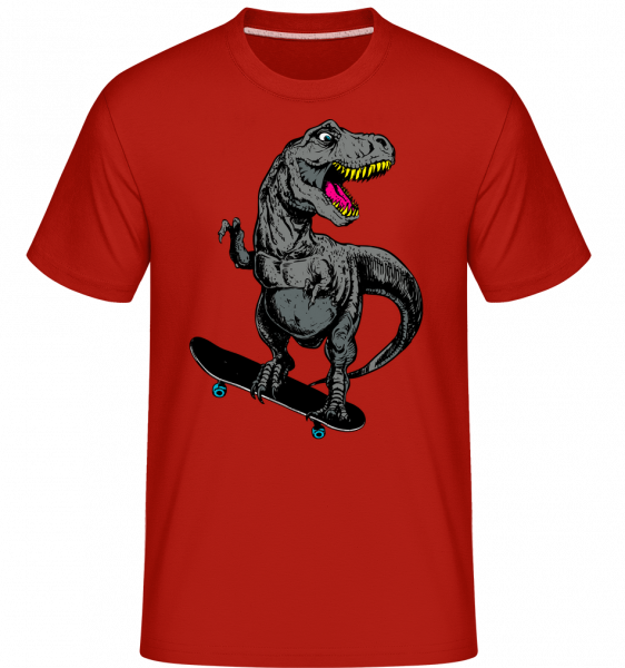 T-Rex Skater -  Shirtinator Men's T-Shirt - Red - Vorn