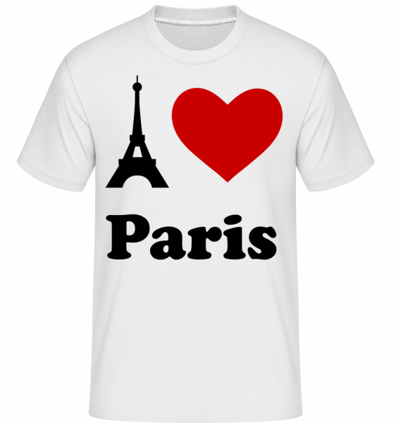 I Love Paris -  Shirtinator Men's T-Shirt - White - Vorn