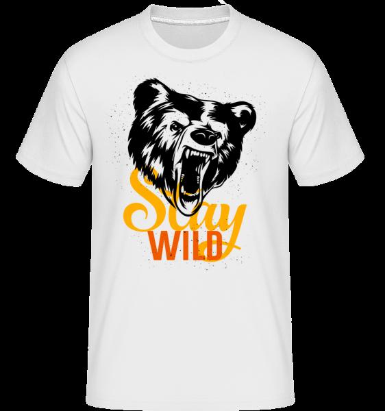 Stay Wild -  Shirtinator Men's T-Shirt - White - Vorn