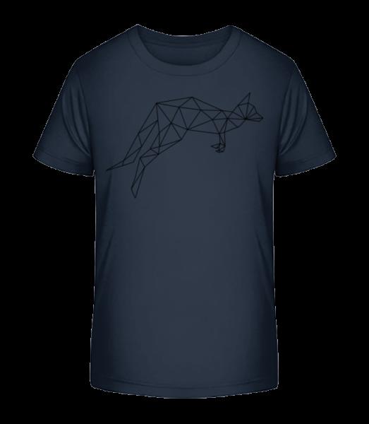 Polygon Kangaroo - Kid's Premium Bio T-Shirt - Navy - Vorn