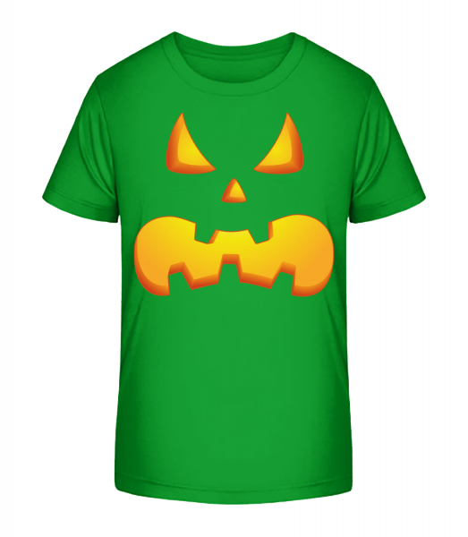 Pumpkin Face Evil - Kid's Premium Bio T-Shirt - Green - Vorn