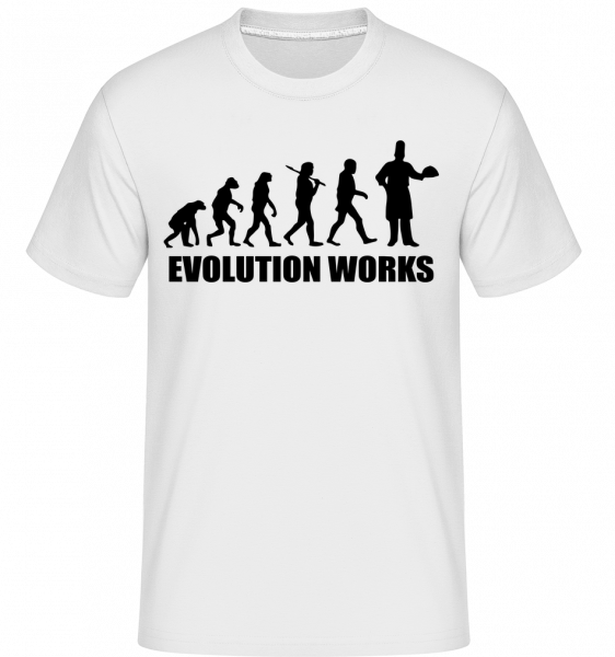 Evolution Works Cooking - Shirtinator Men's T-Shirt - White - Vorn