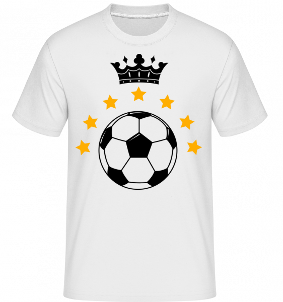 Football Crown - Shirtinator Men's T-Shirt - White - Vorn