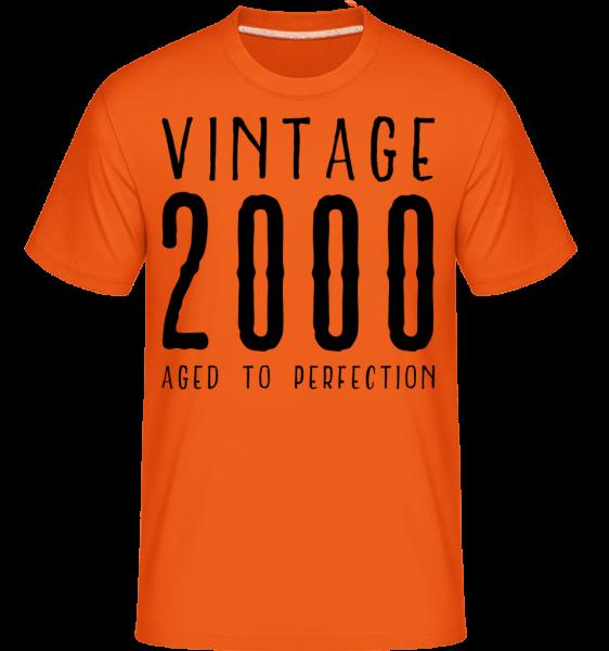 Vintage 2000 Aged To Perfection -  Shirtinator Men's T-Shirt - Orange - Vorn
