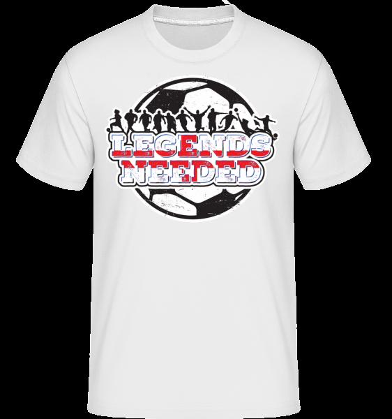 Football England Legends Needed - Shirtinator Men's T-Shirt - White - Vorn