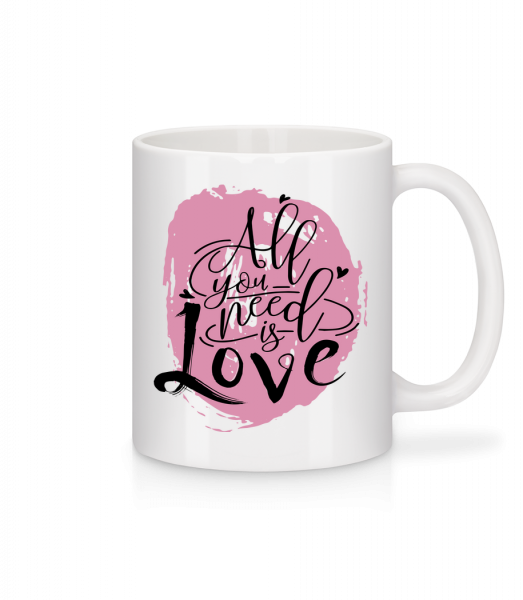 All You Need Is Love - Mug - White - Vorn