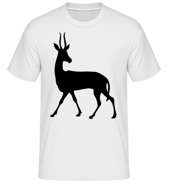 Shadow Deer Curious -  Shirtinator Men's T-Shirt - White - Vorn